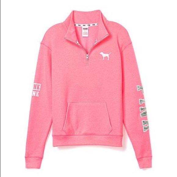 c134b813 Victoria's Secret PINK Half-Zip Sweatshirt. M_5b4b5c5ef303694a778aa030